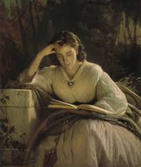 woman reading books from heroinesofthefaith.
