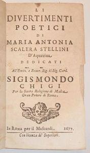 Scalera_Stellini_Li_divertimenti_poetici_First_Edition