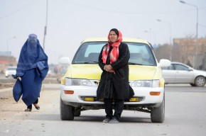woman tax driver afghanistan