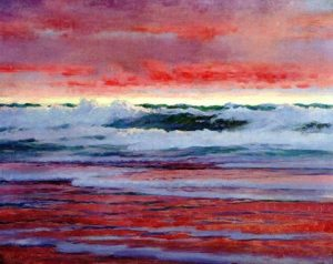 william blair bruce burrascoso tramonto rosso