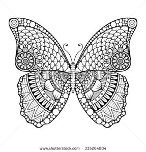 stock-vector-butterfly-vintage-decorative-elements-with-mandalas-oriental-pattern-vector-illustration-islam-335264804