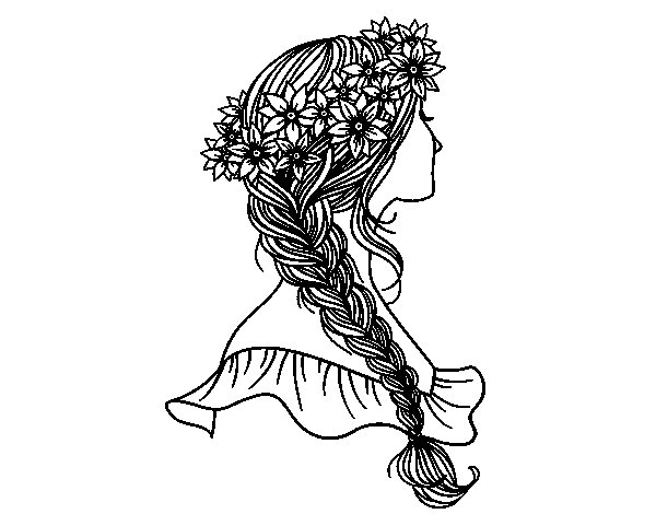 unwashed hair for coloring pages - photo#6