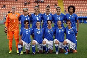 LA SPEZIA, ITALY - SEPTEMBER 18: Italy poses prior to the UEFA Women's EURO 2017 Qualifyier between Italy and Georgia at Stadio Alberto Picco on September 18, 2015 in La Spezia, Italy. (Photo by Gabriele Maltinti/Getty Images)