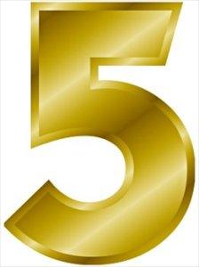 gold-number-5