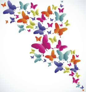 Butterfly splash