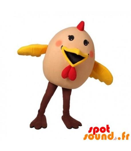 mascotte-uovo-gallina-gigante-uccello-mascotte